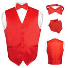 Men's RED Dress Vest BOWTie Set for Suit or Tuxedo