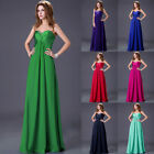 Maxi Chiffon Evening Dresses Formal Bridesmaid Cocktail Long Ball Gown Size 6~20