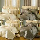 Elegance Bedroom Couture Chic Faux Silk Eyelet Curtains