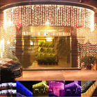 256 LED Curtain Fairy Lights Lamp Christmas Xmas String Wedding party decor 6x1M