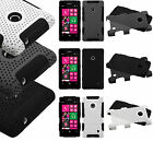For Nokia Lumia 521 MESH Hybrid Silicone Rubber Skin Case Phone Cover