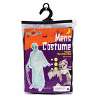 Mens Ghost, Ghoul Costume Fancy Dress Outfit Halloween Sizes S,M & L