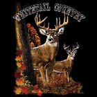 Whitetail Country Deer Buck Forest Long sleeve T-Shirt Tee S-3XL Hunting Fall