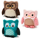 HOOTY OWL MICROWAVEABLE HEATED TOY CUDDLY SOFT TEDDY WARM MICROWAVE KIDS NEW