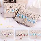 Canvas Floral Flower Business ID Bank Credit Card Pocket Bag Wallet Holder Case