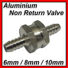 New Non Return Valve Aluminium 6 8 10mm Fuel One Way Petrol Diesel Hose Water