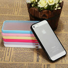 TPU Gel Silicone Frame Bumper Soft Case Matte Hard Back Cover For iPhone 5 5S