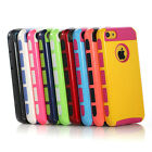 Colorful Heavy Duty Hybrid Rugged Hard Case Cover For iPhone 5C+Screen Protector