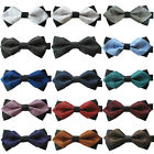 Yibei Ties Adjustable Two Tone Plaid Adult Bowtie Party Groom Bow Tie New Design