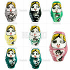 10pcs Russian Doll Whimsical Porcelain Beads Charms Wholesale 22x13mm  8 Colors
