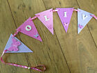 HAND PAINTED WOODEN BUTTERFLY BUNTING personalised: childrens room / nursery