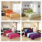 Reversible Queen Size 100% Cotton Bedspread Set-12 Colours 245*270cm New Linen
