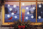 Внешний вид - Frozen Snowflakes removable wall window vinyl decal sticker holiday Christmas