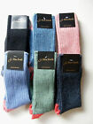 Ladies 90% Shetland Wool Contrast Heel and Toe Socks, Superb Quality,size 4-7