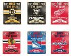 "Choose Your NHL Hockey Team 11.5 x 14.5"" Obey the Rules Vintage Metal Sign"