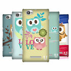 HEAD CASE DESIGNS KAWAII OWL SERIES 1 BACK CASE FOR SONY XPERIA M C1905 C1904
