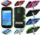 For T-Mobile Samsung Galaxy S II T989 Rubber IMPACT TUFF HYBRID KICK STAND Case