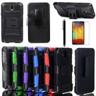 Rugged Hybrid Stand Case Cover Clip Holster For Samsung Galaxy Note III 3 N9000