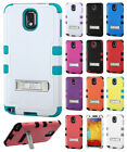 For Samsung Galaxy Note 3  Rubber IMPACT TUFF HYBRID KICK STAND Case Phone Cover