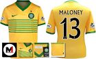 *13 / 14 - NIKE ; CELTIC AWAY SHIRT SS + ARM PATCHES / MALONEY 13 = KIDS SIZE*
