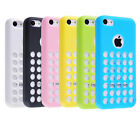 New 6 COLORFUL SLIM SILICONE SOFT TPU HOLES CASE COVER FOR APPLE iPhone 5C Hot