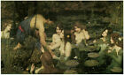 Waterhouse - Hylas and The Nymphs (1896) Art Canvas/Poster Print A3/A2/A1