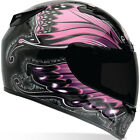 Bell Factory Vortex Womans Monarch Pink Motorcycle Helmet