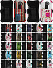 TRI-SHIELD DESIGN KOMBO RUGGED CASE + BELT CLIP HOLSTER STAND FOR LG G2 PHONE