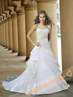 Gorgeous White Bridal Wedding Dresses Prom Gown Evening dress 6 8 10 12 14 16