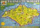 Isle of Wight, Pictorial Map. Vintage BR Travel poster print by Tom Smith. 1949
