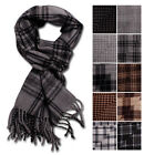 Mens Check Scarf Tartan Check Winter Scarves Checkered Warm Plaid Scarf
