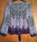 BHS NEW INSTORE PURPLE BLACK CHIFFON ANIMAL PRINT TOP BLOUSE SIZES 8 - 20 BNWOT