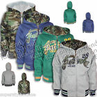 BOYS BASEBALL JACKET Style Hoodie REVERSIBLE Jacket CAMOUFLAGE 3-4 5-6 Blue Grey