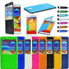 Window Back Fold Case Cover for Samsung Galaxy Note 3 III N9000 w/ Stylus Flim