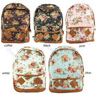 Fashion Vintage Cute Flower School Book Campus Bag Women Backpack New