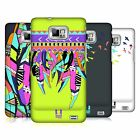 HEAD CASE DESIGNS NEON FEATHER CASE COVER FOR SAMSUNG GALAXY S2 II I9100