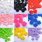 20pcs Cute Gorgeous Rose Coral Resin Spacer Beads Making Bracelets10/12/15mm