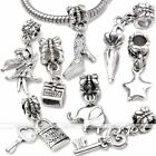 5pcs Silver Plated Dangle Charm Beads Pendent Fit European Bracelet Necklace