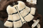 100% New Genuine Fox Fur Short Jacket Coat Garment Fashion Winter Womens Vintage