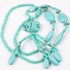 1/6 Strings 2 Colors Print Crack Oval Beads Turquoise Crystal Necklaces Hot Sale
