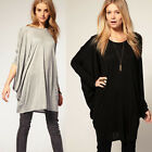 New Arrival!Women Batwing Sleeve Casual Loose Long Cosy T-Shirt Tops Blouse XS~M