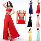 Sexy Long Slit Women's Formal Ball Cocktail Prom Dress Party Dress Evening Gown