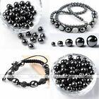 4-12mm Black Magnetic/Non Magnetic Hematic Ball Loose Beads Craft Finding Spacer