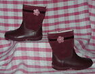 BNIB Clarks Softly So Inf Girls Wine Red Leather / Suede Boots  4 G