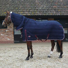 JHL HEAVYWEIGHT STABLE COMBO / FULL NECK WINTER RUG - NAVY & BURGUNDY