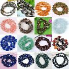 1 Strand Flat Oval Round Coin Natural Gem Gemstone Loose Beads Necklace Making