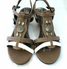 Step On Air, Ladies Low Heel Sandals, Comfy Insoles, Size 5 or 7 Clearance Stock