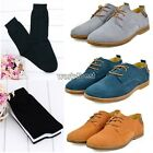 WST Men's Casual Lace Up Shoes British Pop Low-top Sneakers/ 3 Pairs Socks Sale