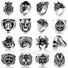 Fashion Cool Punk Rock Mens Tibetan Silver Metal Alloy Finger Ring Jewellery