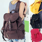 Retro Vintage Womens Travel Satchel Shoulder Bag Canvas Backpack Rucksack School